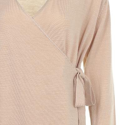 straight line wrap cardigan ivory